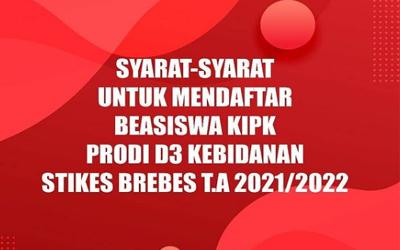 Inilah Syarat Menjadi Mahasiswa Baru Mendapatkan Beasiswa KIPK Prodi D3 Kebidanan TA 2021-2022